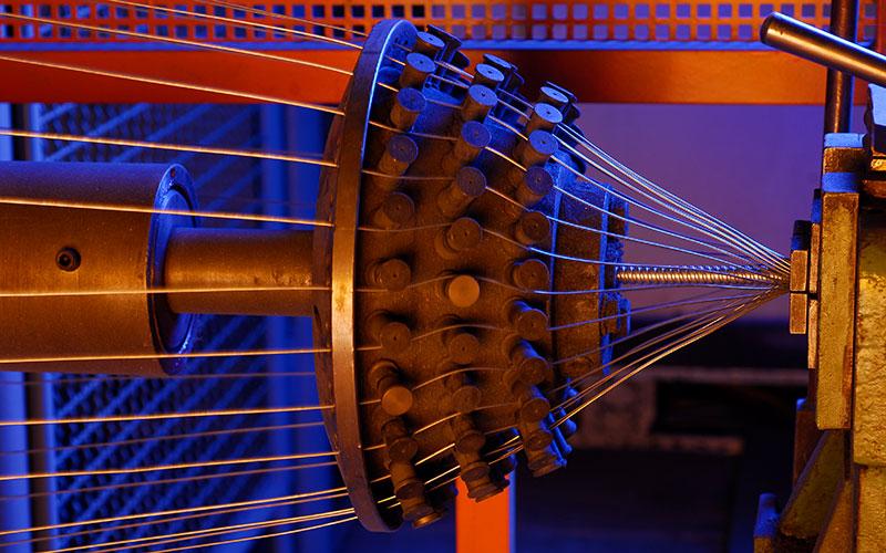 Großer Flechter / large-size braiding machine