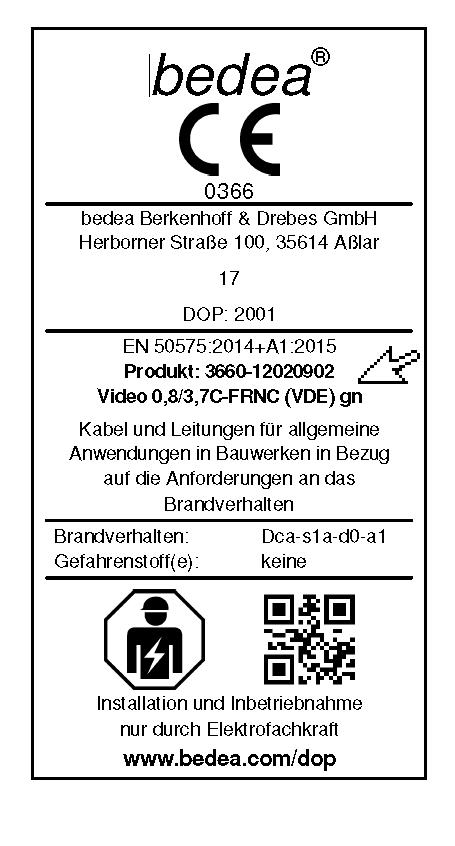 CE Etikettierung - Etikett