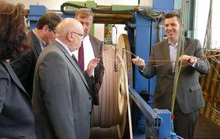 Führung durch Kabelproduktion